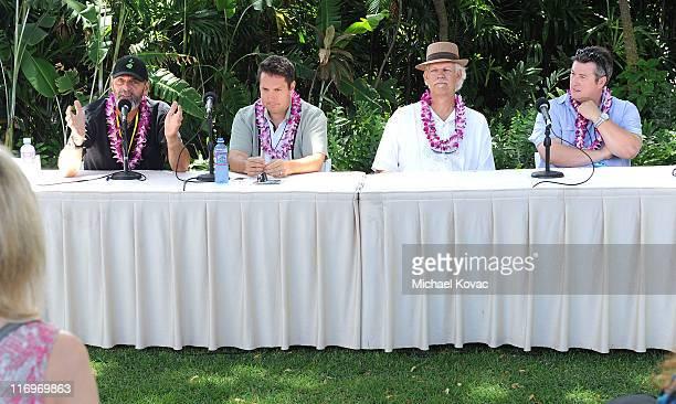 Filmmakers Jack McCoy David Cumming Turk Pipkin Laurent Le Gall attend the Filmmakers Panel at Wailea Marriott at the 2011 Maui Film Festival At...