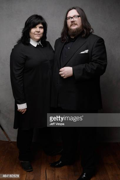 Filmmakers Jane Pollard and Iain Forsyth pose for a portrait during the 2014 Sundance Film Festival at the WireImage Portrait Studio at the Village...