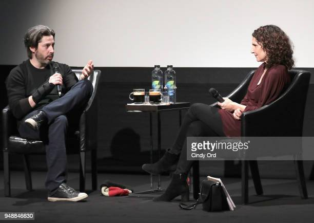 Filmmakers Jason Reitman and Tamara Jenkins speak at the Premiere Talk of 'Tully' during the 2018 Tribeca Film Festival at BMCC Tribeca PAC on April...