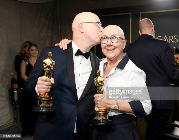 "Filmmakers Jeff Reichert and Julia Reichert winners of the Documentary Feature award for ""American Factory"" attend the 92nd Annual Academy Awards..."