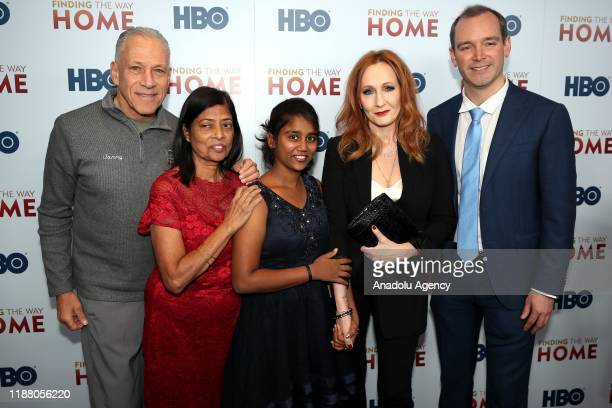 Filmmakers Jon Alpert , Matthew O'Neill , author J.K Rowling , Maria Fernandez and Livya D'Souza attend HBO's 'Finding The Way Home' World Premiere...