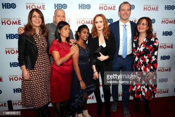 Filmmakers Jon Alpert , Matthew O'Neill , author J.K. Rowling Maria Fernandez , Livya D'Souza , EVP Co-head HBO Lisa Heller and Nancy Abraham attend...