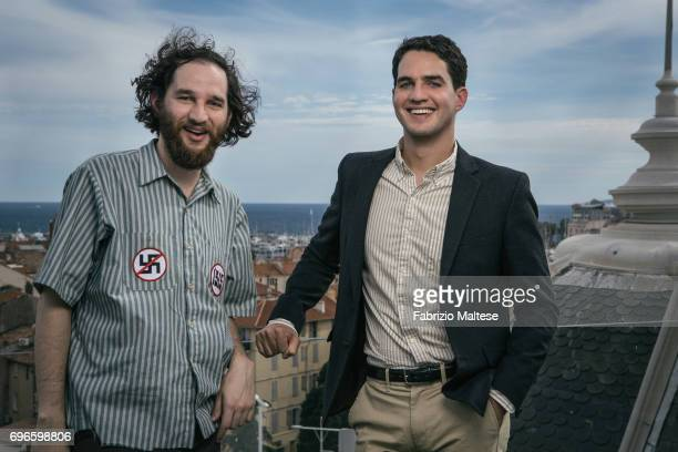 Filmmakers Joshua Safdie and Ben Safdie are photographed for the Hollywood Reporter on May 22 2017 in Cannes France