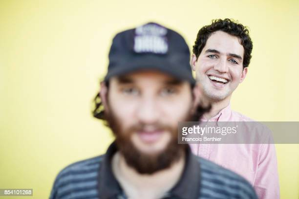 Filmmakers Joshua Safdie and Ben Safdie of the movie 'Good Time' are photographed for Plugged on September 2 2017 in Paris France