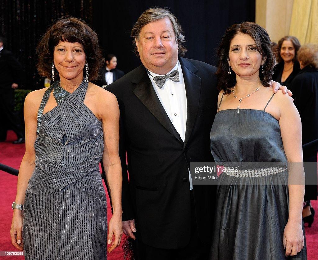 Filmmakers Karen Goodman and Kirk Simon and school principal Karen Tal arrive at the 83rd Annual Academy Awards at the Kodak Theatre February 27, 2011 in Hollywood, California.