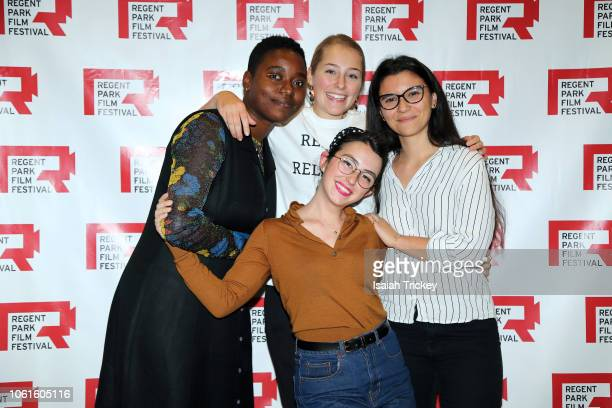 Filmmakers Kourtney Jackson Maddy Pilon Rebeca Ortiz and Kayla Resendes attend the 16th Annual Regent Park Film Festival at Daniel's Spectrum on...