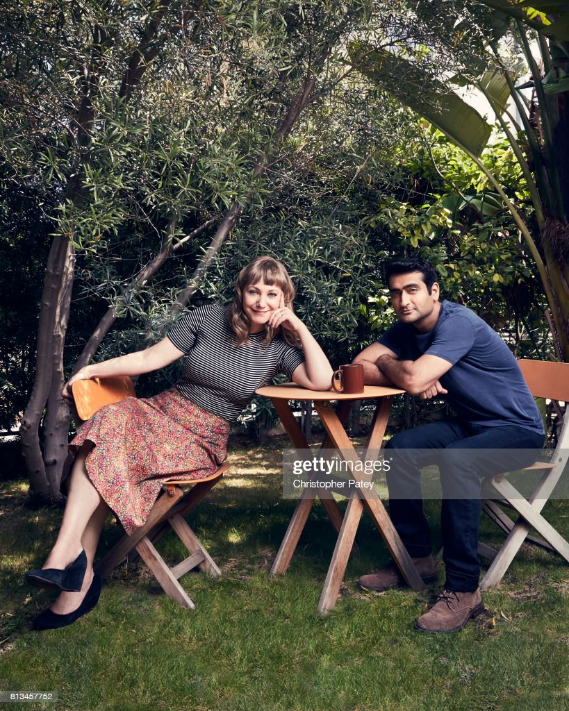 Filmmakers Kumail Nanjiani, Emily Gordon are photographed for People Magazine on June 5, 2017 in Los Angeles, California. PUBLISHED