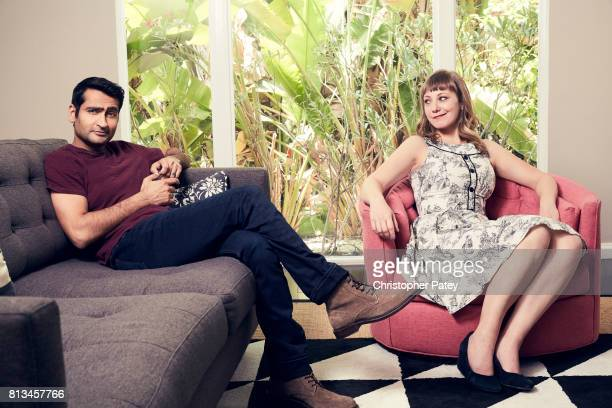 Filmmakers Kumail Nanjiani Emily Gordon are photographed for People Magazine on June 5 2017 in Los Angeles California PUBLISHED IMAGE