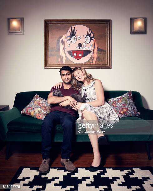 Filmmakers Kumail Nanjiani Emily Gordon are photographed for People Magazine on June 5 2017 in Los Angeles California