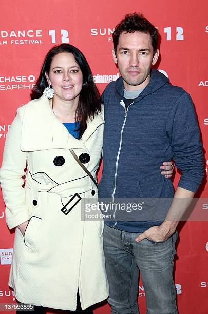 Filmmakers Lauren Edwards and Nash Edgerton attends the Safety Not Guaranteed premiere during the 2012 Sundance Film Festival held at Prospector...