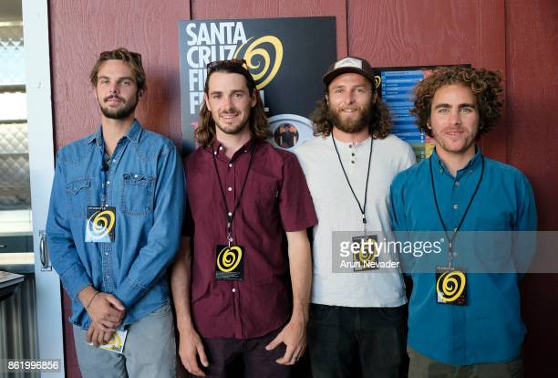 Filmmakers Lucas Heinel Ben Judkins Dylan Enos and Kai Killion with the film Marshall at the Santa Cruz Film Festival at Tannery Arts Center on...