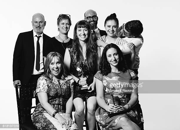 Filmmakers Marielle Heller Miranda Bailey Anne Carey Bert Hamelin Madeline Samit and actress Bel Powley pose for a portrait at the 2016 Film...