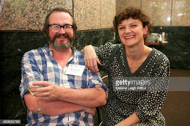 Filmmakers Martin Clark and Cara Connolly attend the DGA Luncheon during the 2014 Los Angeles Film Festival on June 13 2014 in Los Angeles California