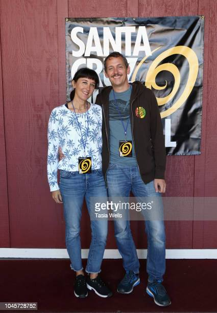 Filmmakers Michelle Ortega and David Tews attend the 2018 Santa Cruz Film Festival on October 4 2018 in Santa Cruz California