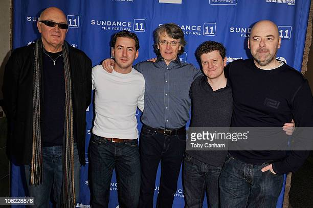 Filmmakers Nick Fraser Teddy Leifer Ian Palmer Alan Maher and cinematographer Michael Doyle attend KNUCKLE at the Holiday Village IV Theatre during...