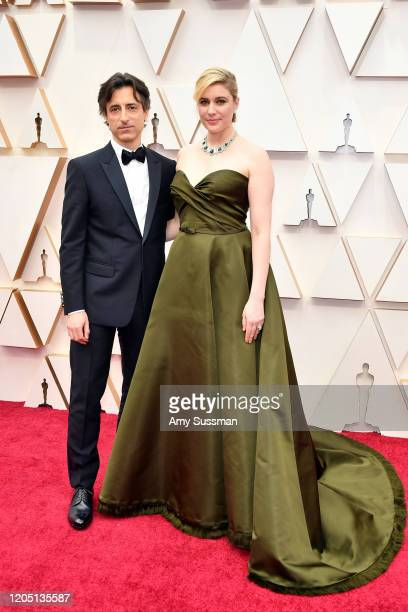 Filmmakers Noah Baumbach and Greta Gerwig attend the 92nd Annual Academy Awards at Hollywood and Highland on February 09 2020 in Hollywood California
