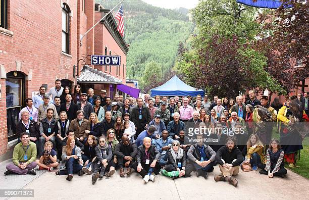 Filmmakers pose for a group photo at the Telluride Film Festival 2016 on September 3 2016 in Telluride Colorado
