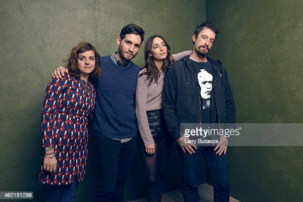Filmmakers Rania Attieh Daniel Garcia actors Rebecca Dayan and Will Janowitz of H pose for a portrait at the Village at the Lift Presented by...