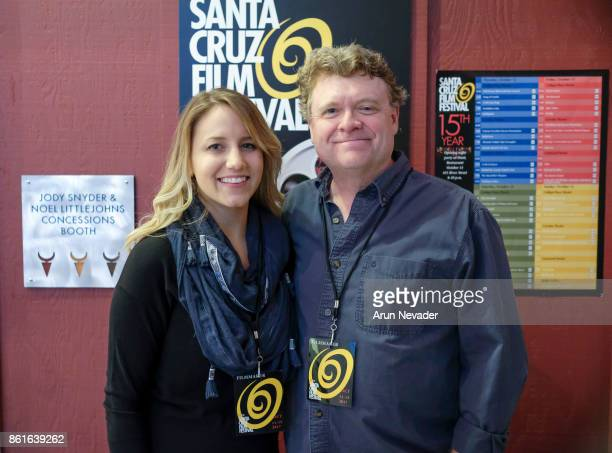 Filmmakers Rebecca Weaver and Chris Irwin appear for the screening of June Falling Down at the Santa Cruz Film Festival at Tannery Arts Center on...