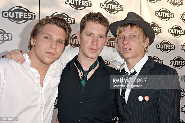 Filmmakers Robert Stadlober Marco Kreuzpaintner and Hanno Koffler arrive at the Outfest 2005 Awards Night July 17 2005 at the John Anson Ford...