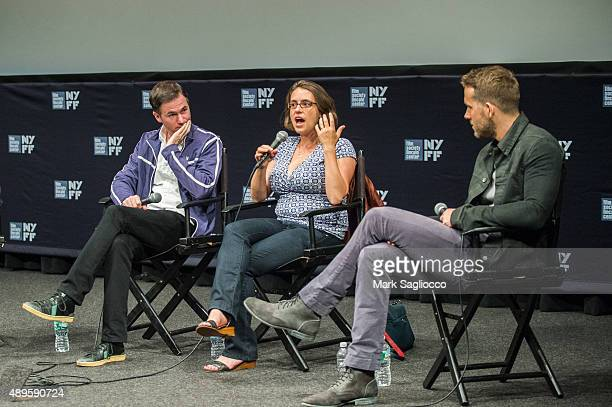 Filmmakers Ryan Fleck Anna Boden and Actor Ryan Reynolds attends The Film Society of Lincoln Center Walter Reade Theatre on September 22 2015 in New...