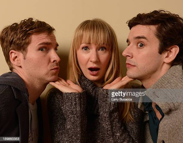 Filmmakers Ryan Spahn Halley Feiffer and Michael Urie pose for a portrait during the 2013 Sundance Film Festival at the Getty Images Portrait Studio...