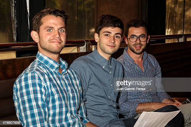 Filmmakers Samuel Miron, Scott Stephen and Jake Witzenfeld attend the AFS Luncheon during the 2015 Los Angeles Film Festival at Casa Nostra on June...