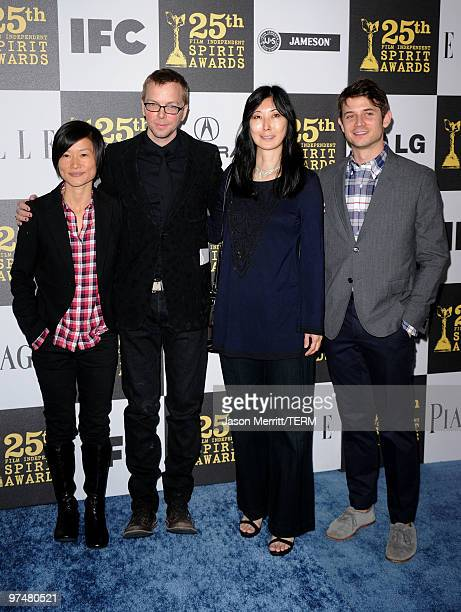 Filmmakers So Yong Kim Bradley Rust Gray Anne Misawa and Ben Howe arrive at the 25th Film Independent's Spirit Awards held at Nokia Event Deck at LA...