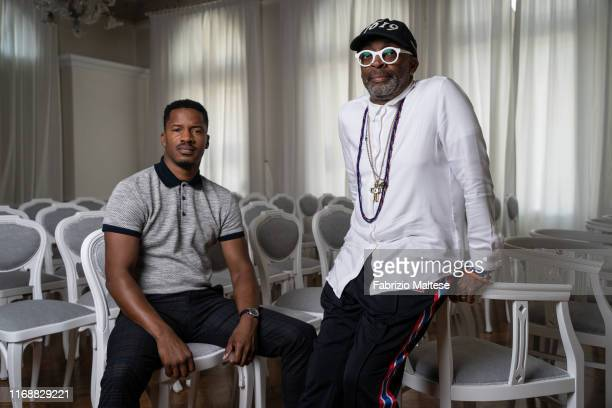 Filmmakers Spike Lee and Nate Parker from the movie 'American Skin' pose for a portrait on September 1, 2019 in Venice, Italy.