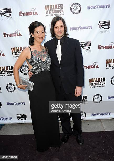 Filmmakers Stacy Pippi Hammon and Wolfgang Meyer arrive for the 2014 Etheria Film Night held at American Cinematheque's Egyptian Theatre on July 12...
