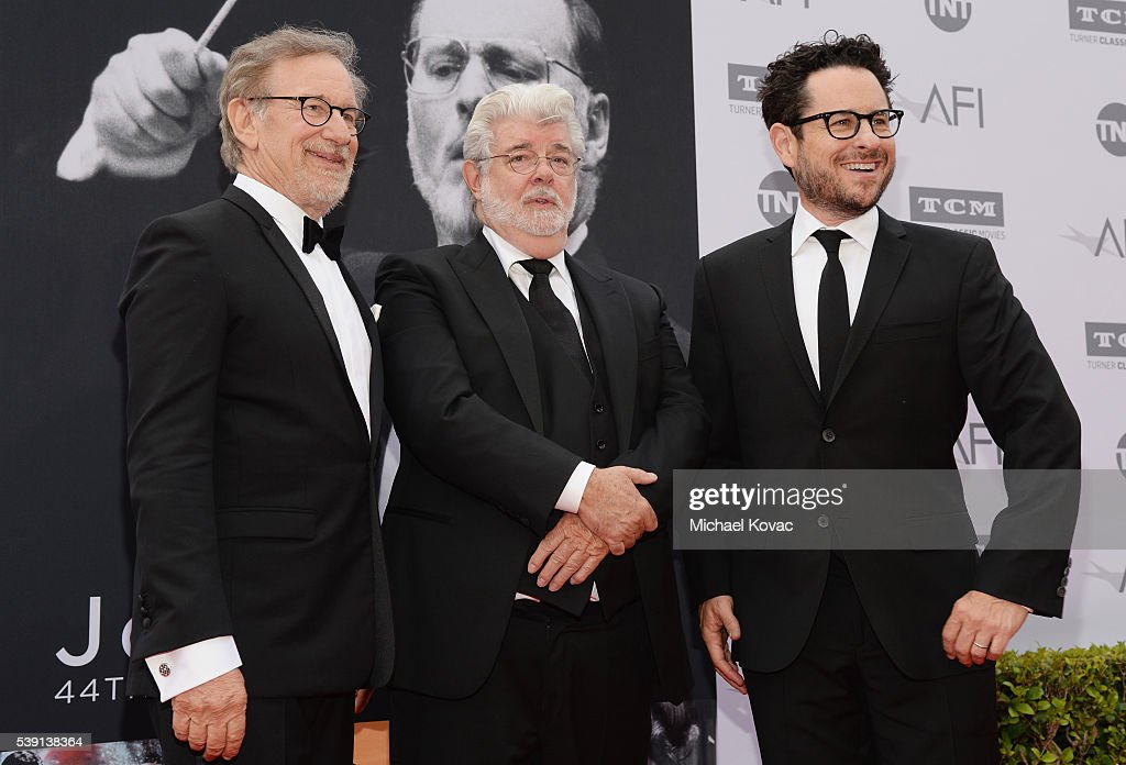 Steven Spielberg and George Lucas arrive at the 44th AFI
