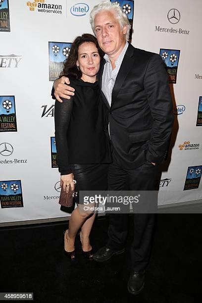 Filmmakers Tara Lynn Orr and Philippe Brenninkmeyer attend the MercedesBenz arrivals at the Napa Valley Film Festival Gala on November 13 2014 in...