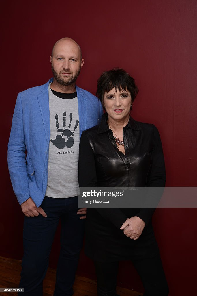 Filmmakers Tony Stroebel and Eve Ensler pose for a portrait during the 2014 Sundance Film Festival at the Getty Images Portrait Studio at the Village At The Lift Presented By McDonald's McCafe on January 22, 2014 in Park City, Utah.