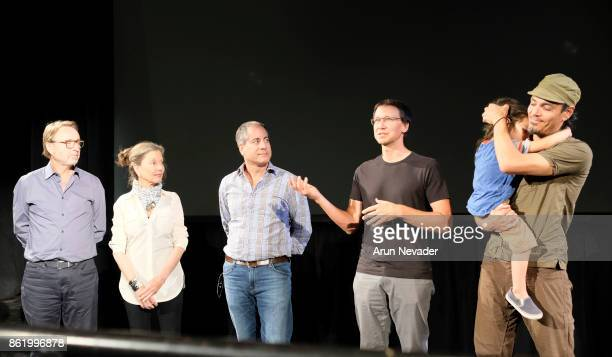 Filmmakers Troy Alexiadas Philippa Frey Christopher Frey Andres Amador and Brad Kremer appear for their film Between Worlds at the Santa Cruz Film...