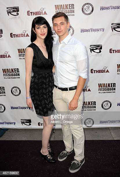 Filmmakers Vivienne Vaughn and Chris Saccaro arrive for the 2014 Etheria Film Night held at American Cinematheque's Egyptian Theatre on July 12 2014...