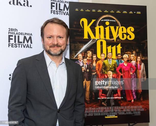 "Filmmaker/television director Rian Johnson attends the 28th Philadelphia Film Festival Screening of ""Knives Out"" at Philadelphia Film Center on..."