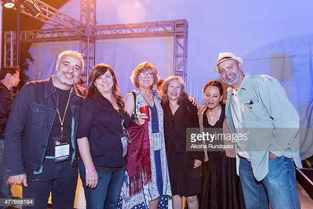 Filmmakmer Javier FuentesLeon Abigail Severance Maria Raquel Bozzi Senior Director of Film Education Patricia Gonzalez Sayda Trujillo and Chima...