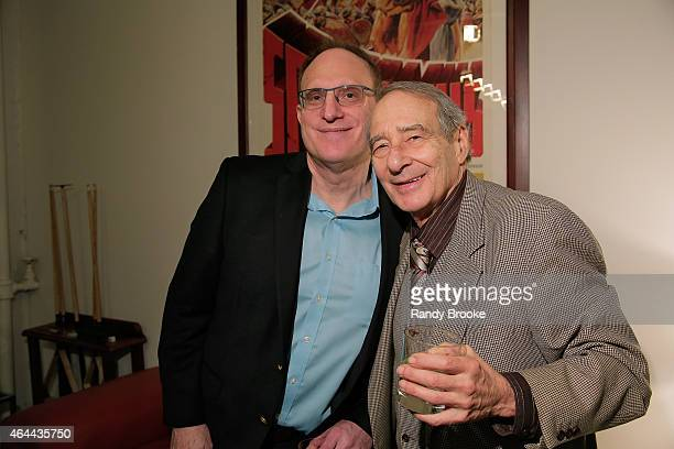 FilmRise CEO Danny Fisher and Martin Feinberg attend FilmRise Celebrates new office in Industry City Brooklyn at FilmRise on February 25 2015 in...