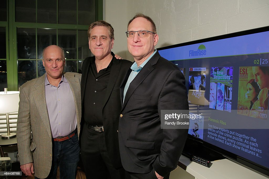 FilmRise Chairman Alan Klingenstein, FilmRise President Jack Fisher and FilmRise CEO Danny Fisher attend FilmRise Celebrates new office in Industry City in Brooklyn at FilmRise on February 25, 2015 in Brooklyn, New York.
