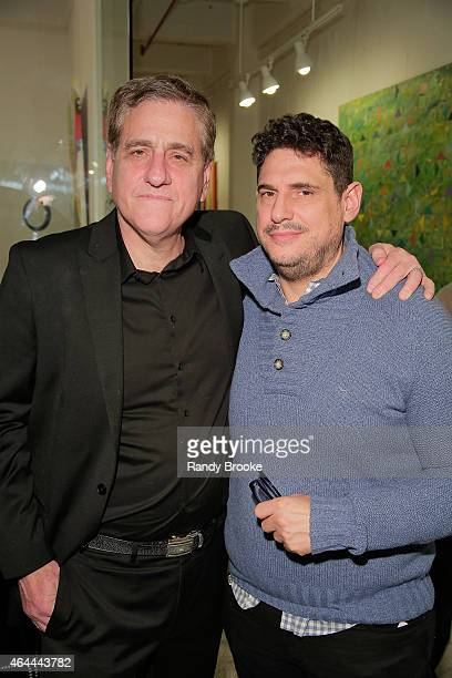 FilmRise President Jack Fisher and Rubenstein PR President Richard Rubenstein attend FilmRise Celebrates new office in Industry City Brooklyn at...