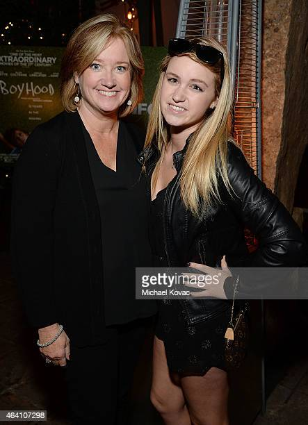 Films' Lisa Schwartz and Grace Mondics attend the AMC Networks and IFC Films Spirit Awards After Party on February 21 2015 in Santa Monica California