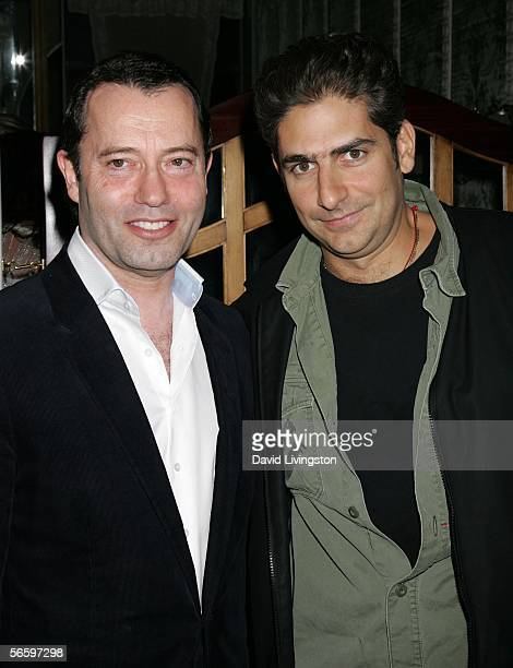 HBO Films president Colin Callender and actor Michael Imperioli pose at HBO's Annual PreGolden Globe Reception at Chateau Marmont on January 14 2006...