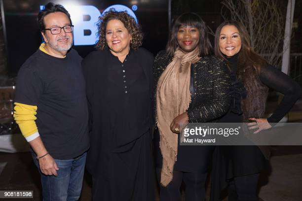 HBO Films President Len Amato Anna Deavere Smith Bevy Smith and Lucinda Martinez attend the HBO 'Notes from the Field' Sundance dinner at The St...