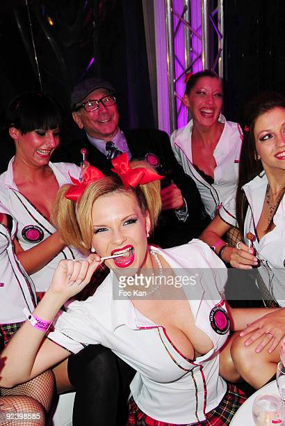 X films producer Marc Dorcel and actresses attend Les Ambassadeurs and Marc Dorcel College Party at the Pavillon Dauphine on October 16 2009 in Paris...