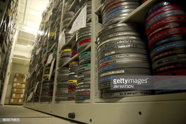 Films rest in just one of the many vaults at the Library of Congress Packard Campus for Audio Visual Conservation in Culpeper, VA, February 10 which...