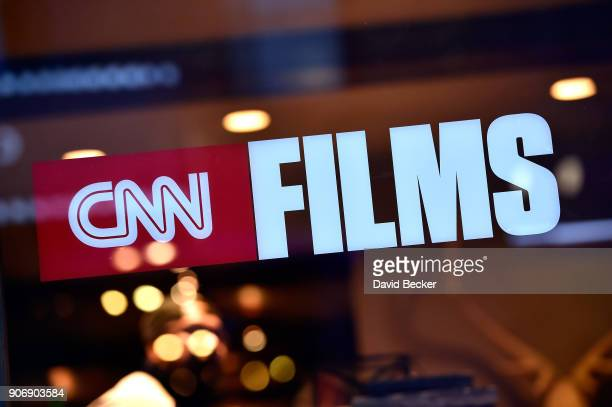 Films signage is seen during the Sundance Film Festival on January 18 2018 in Park City Utah