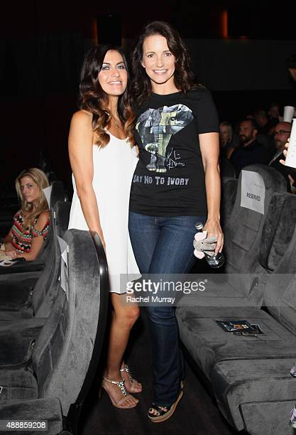 'RACING EXTINCTION' film's subject Leilani Munter and actress Kristin Davis attend the Los Angeles premiere of RACING EXTINCTION at The London West...