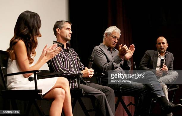 'RACING EXTINCTION' film's subject Leilani Munter Cinematographer Shawn Heinrichs Director Louis Psihoyos and Ted Richane speak onstage during a QA...