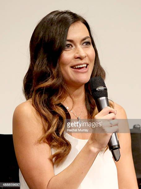 'RACING EXTINCTION' film's subject Leilani Munter speaks onstage during a QA following the Los Angeles premiere of RACING EXTINCTION at The London...