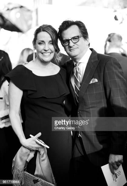 TCM Filmstruck EVP Turner Portfolio 260 Brand Strategy GM Jennifer Dorian and TCM host Ben Mankiewicz attend 2018 TCM Classic Film Festival on April...